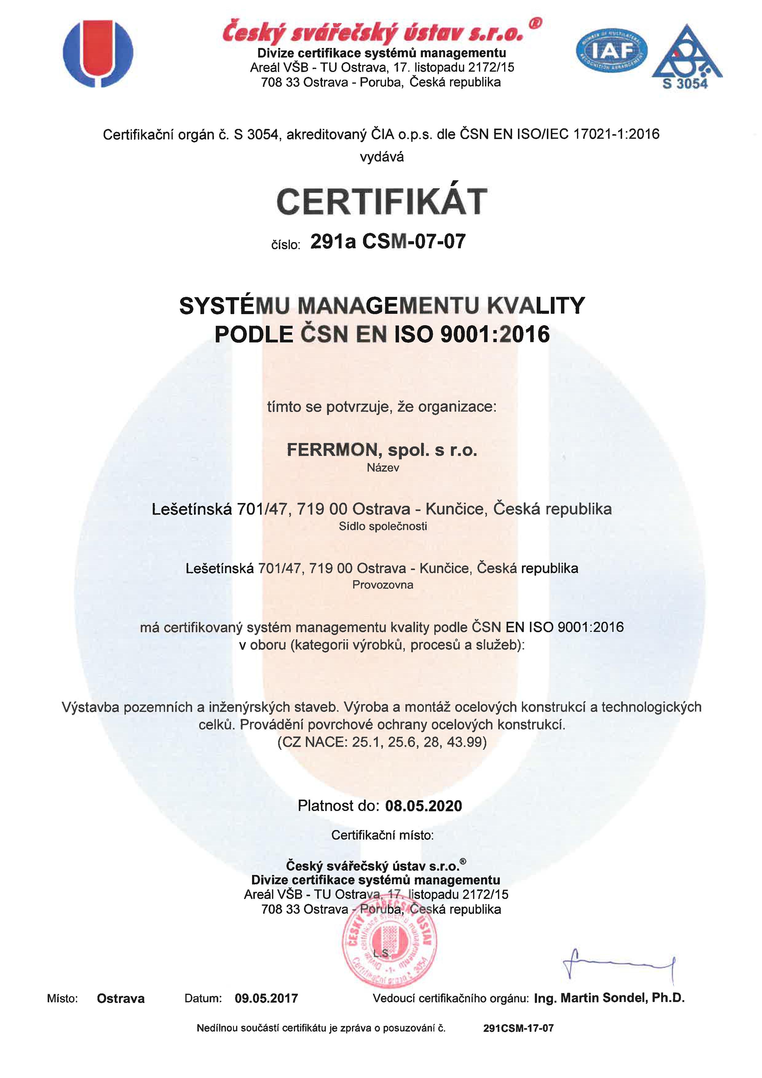 Certifikát 02